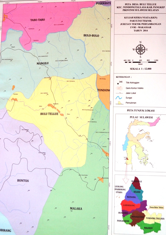Peta Desa Bulu Tellue. (foto: mfaridwm/ist)