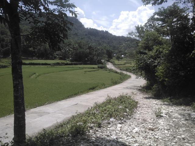 Infrastruktur jalan desa di Bulu Tellue. (foto: mfaridwm)
