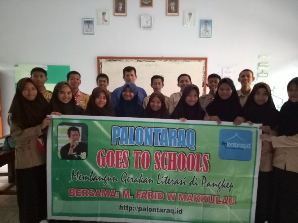 Palontaraq Goes To Schools di SMA Negeri 11 (SMADA) Pangkajene-Pangkep. (foto: ist)