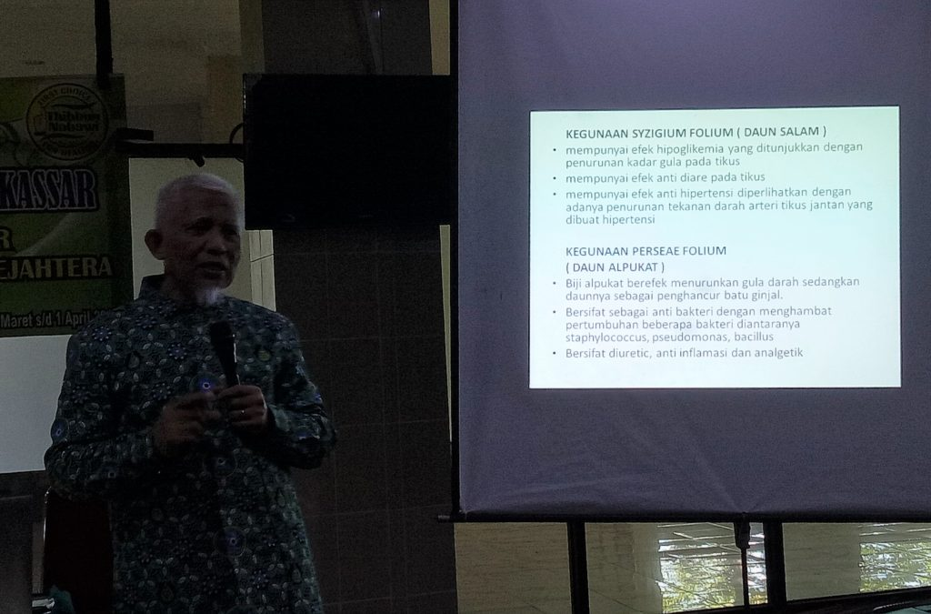 Prof dr.Veni Hadju presentasi dalam suatu workshop kesehatan. (foto: ettaadil)