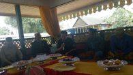 Penulis dalam suatu acara budaya di Biringere,Pangkep. (foto: mursalam/palontaraq)