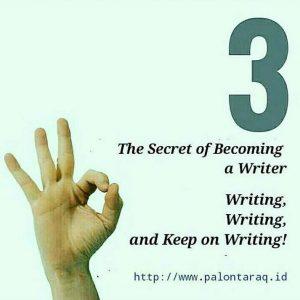 Tips Menjadi Penulis. (sumber: ist/palontaraq)