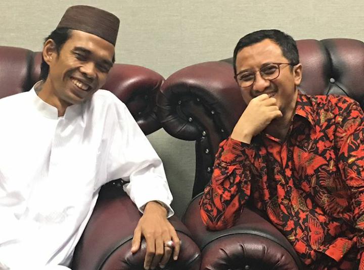UAS bersama Ustadz Yusuf Mansur. (sumber foto: IG UAS)