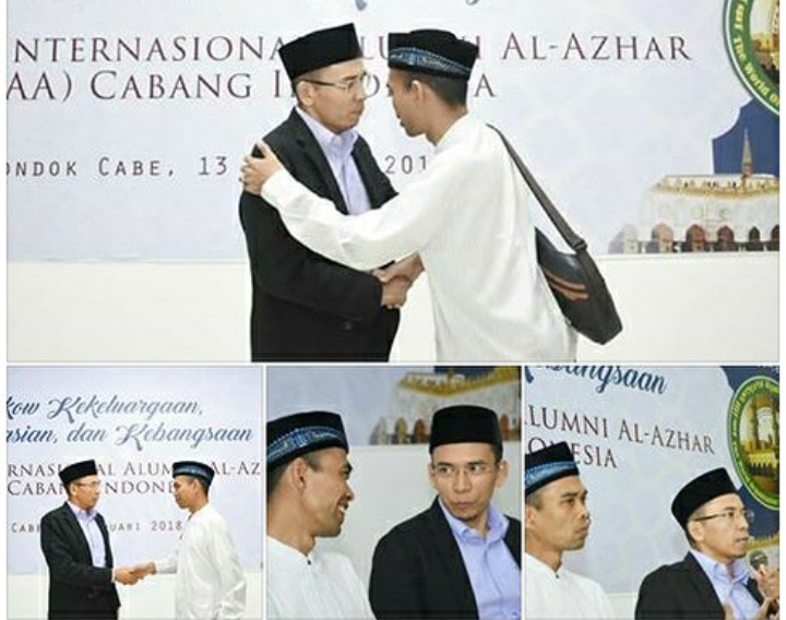 UAS bersama Dr Zainul Majdi TGB. (foto: IG UAS)