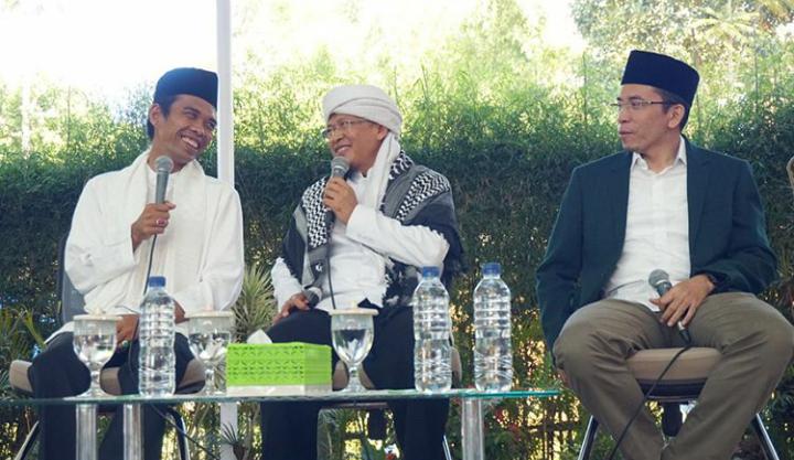 UAS Bersama KH Abdullah Gymnastiar (Aa Gym) dan TGB. (foto: IG UAS)