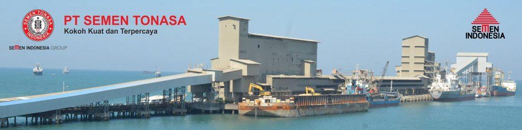 Pelabuhan Pabrik PT. Semen Tonasa di Makassar. (sumber foto: sementonasa.co.id)