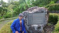 Writer at Prehistoric Park Site of Batu Pake Gojeng, Sinjai