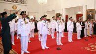 Pelantikan dan Pengambilan Sumpah Gubernur hasil pilkada serentak 27 Juni lalu. (foto: InfoSulsel)