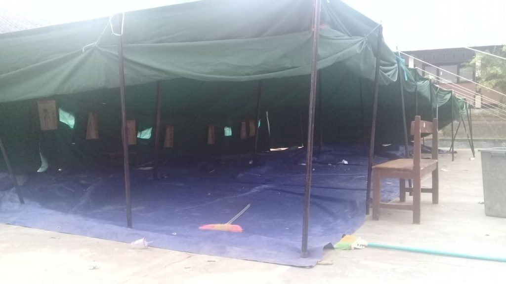 Tenda-tenda Pengungsian Korban Gempa Lombok-NTB. (foto: ahmadyani)