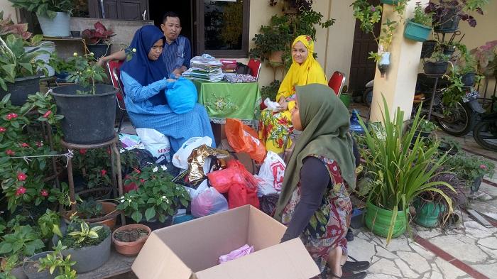 Pengumpulan bantuan untuk Lombok. (foto: ist/palontaraq)