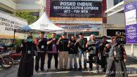 Relawan Bencana Gempa Lombok, ARPS Sulsel di depan Posko Induk MRI_ACT NTB. (foto: ist/palontaraq)