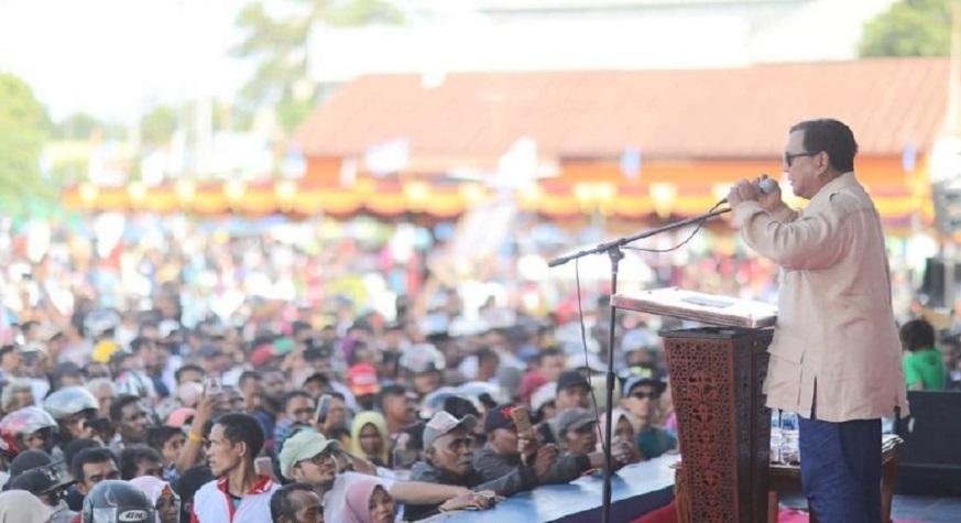 Kampanye terbuka Capres 02, Prabowo Subianto di Lapangan Mandala, Merauke, Papua. (foto: BPN Prabowo-Sandi)