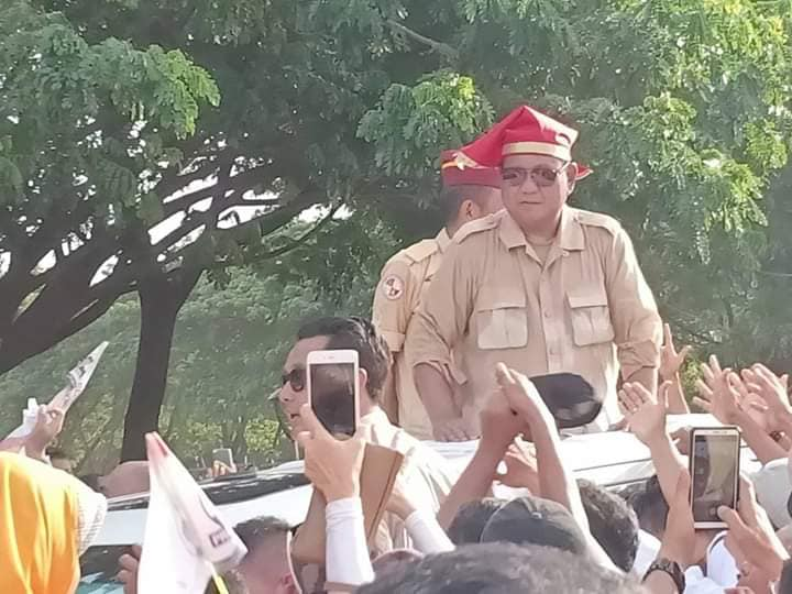 Kampanye terbuka Capres 02 Prabowo Subianto di Lapangan Karebosi, Makassar. (foto: ist/palontaraq)