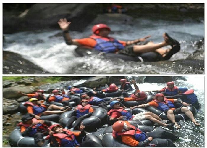 Kegiatan Tubing di Kalipaingan, Pekalongan, Jawa Tengah. (foto: ist/palontaraq)