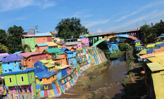 In Colourful Village, Jodipan,  Malang City. (foto: mfaridwm/palontaraq)