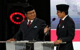 Gaya debat Capres Prabowo Subianto. (foto: liputan6)