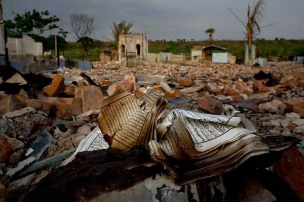 Permukiman muslim Rohingnya yang dibakar Pemerintah Myanmar. (foto: )