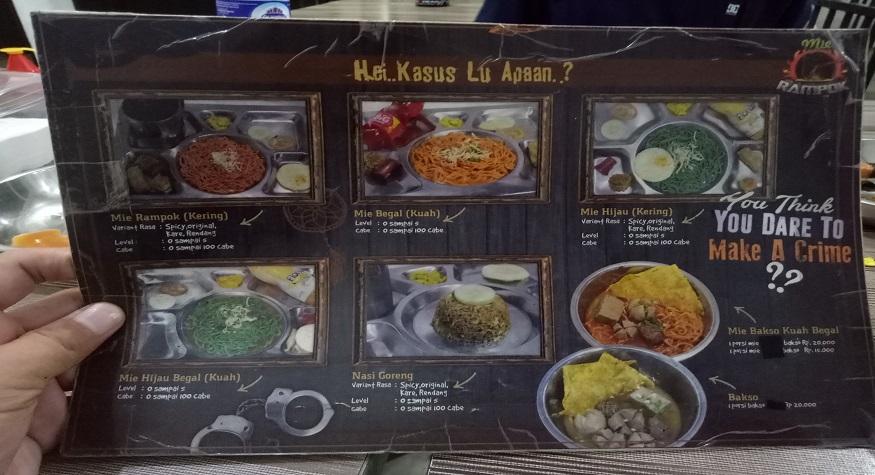 Daftar menu berdasarkan 'kasus' (selera) tahanan. (foto: mfaridwm/palontaraq)