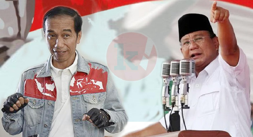 Jokowi vs Prabowo. (foto: Jokowi vs Prabowo (foto: Kicknews.today)