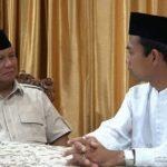 Prabowo Subianto dan Ustadz Abdul Somad. (foto: ist/palontaraq)