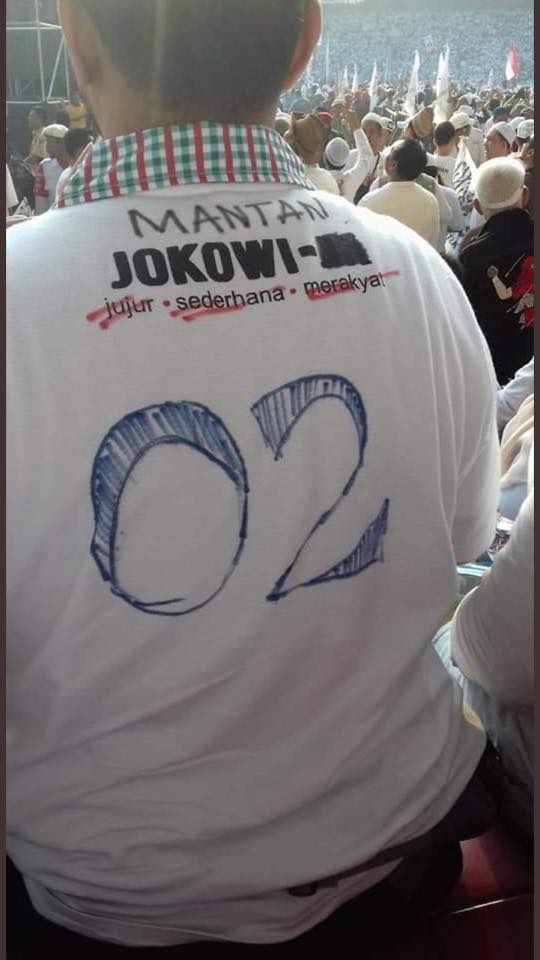 Mantan Jokowi juga hadir dalam Kampanye Prabowo di Stadion GBK. (foto: ist/palontaraq)