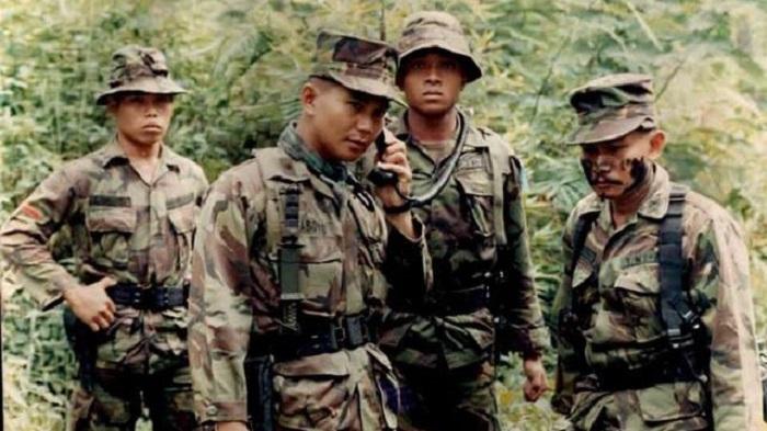 Prabowo muda saat bertugas di Tim-tim. (foto: kumparan)