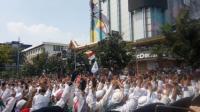 Aksi Unjuk Rasa di depan Kantor Bawaslu, Jakarta. (22/5/2019)