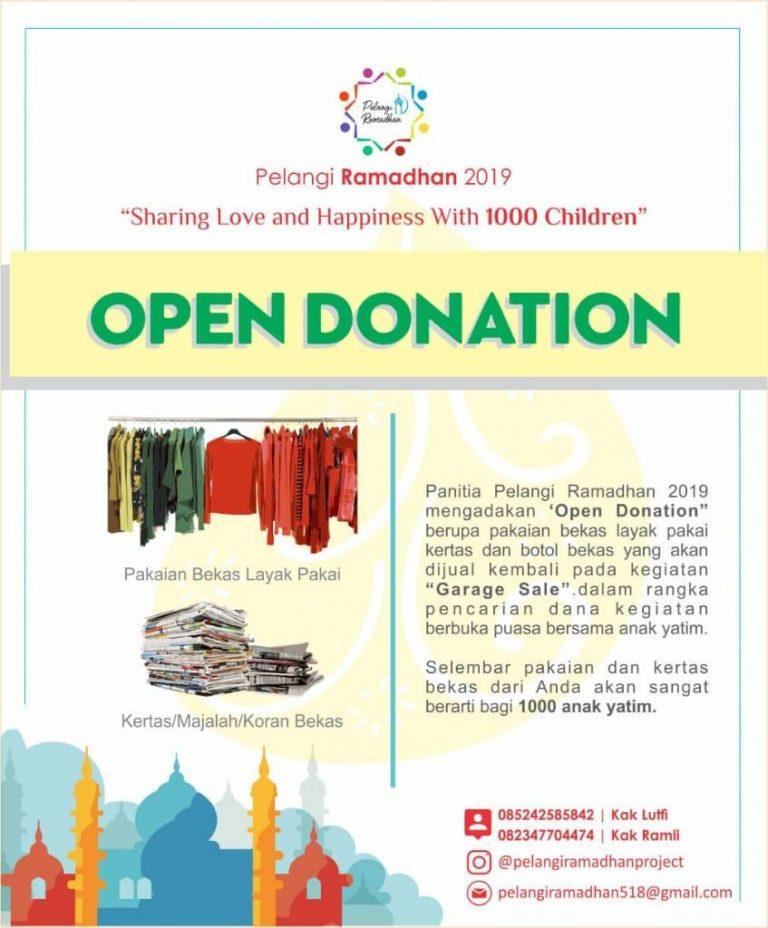Open Donasi untuk Pelangi Ramadhan 2019