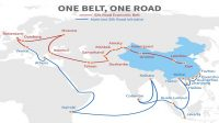One belt - one road chinese modern silk road. Economic