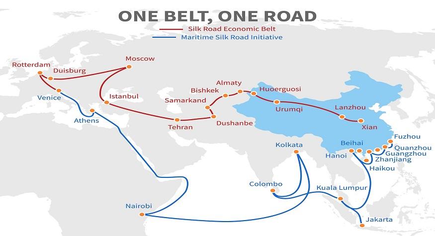One belt - one road chinese modern silk road. Economic