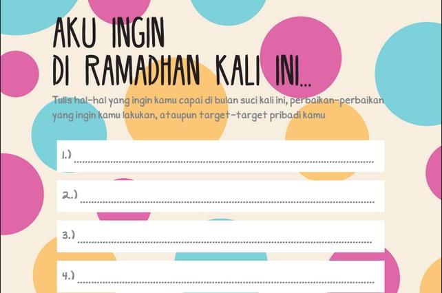 Buat Planing Ramadanmu. (foto: ist/palontaraq)