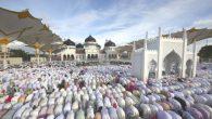Shalat Idul Fitri di Banda Aceh (foto: serambiindonesia)