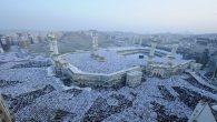 Shalat Idul Fitri di Masjidil Haram. (foto: ist/palontaraq)