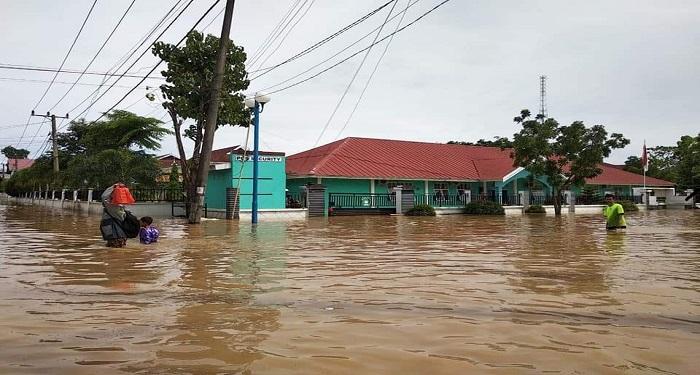 Banjir di Kabupaten Gowa. (foto: ist/palontaraq)