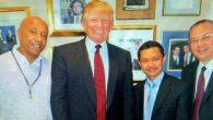Utteng bersama Donal Trump. (foto: dok.pribadi Imam Shamsi Ali)
