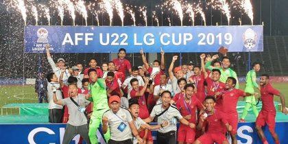 Timnas Indonesia Juara AFF U-22 LG Cup 2019