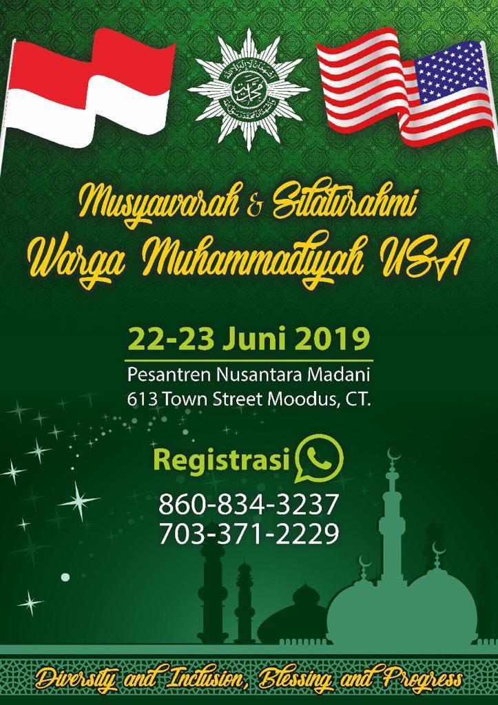 Undangan Silaturrahim warga Muhammadiyah se-Amerika. (foto: ist/palontaraq)