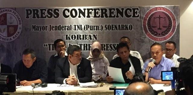 Konferensi Pers menjawab Tuduhan Makar terhadap Mayjen (Purn) Soenarko. (foto: ist/palontaraq)