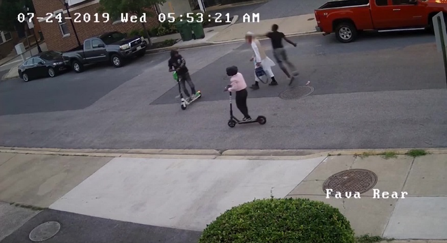 an attack on a moslem civilian in baltimore