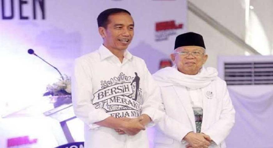 Joko Widodo dan KH Ma'ruf Amin. (foto: ist/palontaraq)