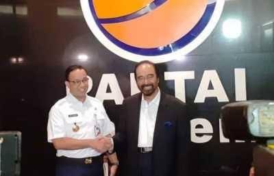 Gubernur DKI Jakarta Anies Baswedan dan Ketum Partai Nasdem Surya Paloh. (foto: ist/palontaraq)