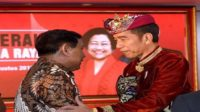 Prabowo dan Jokowi di Kongres PDIP. (foto: ist/palontaraq)