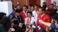 Jokowi, Megawati dan Prabowo di perhelatan Asian Games, beberapa waktu lalu. (foto: ist/palontaraq)