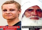 Pelaku teror di Masjid Oslo Norwegia dan Peringkusnya. (foto: ist/palontaraq)
