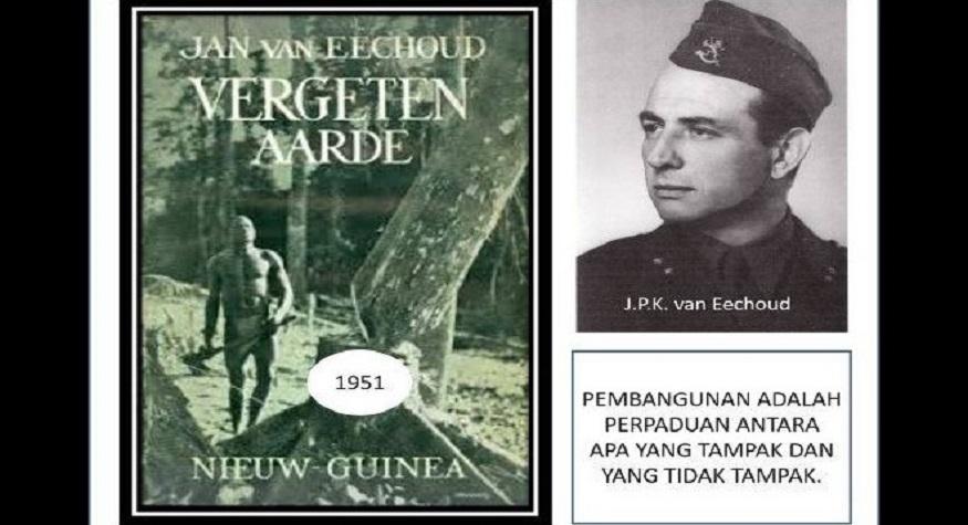"""van Eechoud di dalam bukunya, """"Vergeten Aarde"""" (Bumi yang Dilupakan, 1951)"""