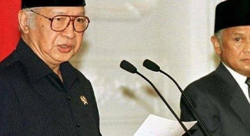 Soeharto dan Habibie. (foto: ist/palontaraq)