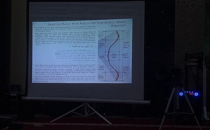Deskripsi Busur milik Rasulullah SAW. (foto: ist/palontaraq)