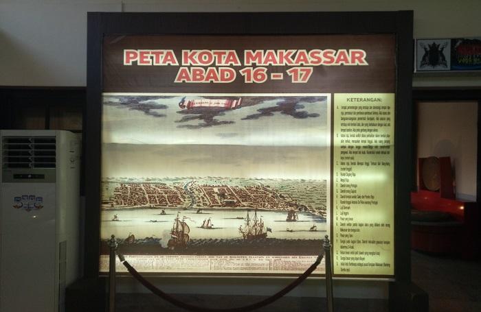 Koleksi Museum: Peta Kota Makassar Abad 16-17. (foto: mfaridwm/palontaraq)