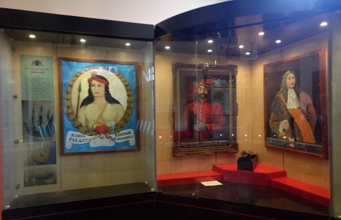 Koleksi lukisan dan narasi tentang Arung Palakka, Sultan Hasanuddin, dan Cornelis Speelman, Tokoh Sejarah Perang Makassar dalam Abad XVII. (foto: mfaridwm/palontaraq)