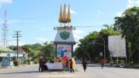 Tugu 'Pajung Kerajaan' di Pusat Kota Barru. (foto: ist/palontaraq)